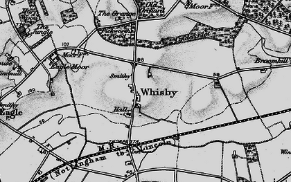 Old map of Whisby in 1899