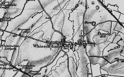 Old map of Whissendine in 1899