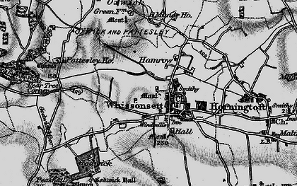 Old map of Whissonsett in 1898