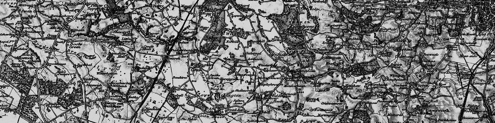 Old map of Whisterfield in 1896