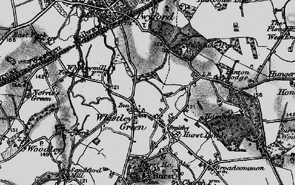 Old map of Whistley Green in 1895