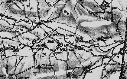 Old map of Whiston in 1897