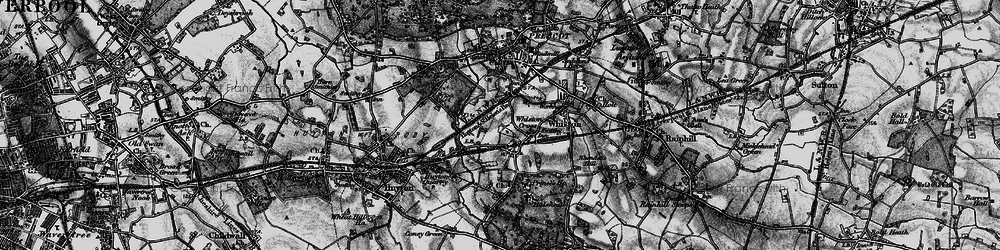 Old map of Whiston Cross in 1896
