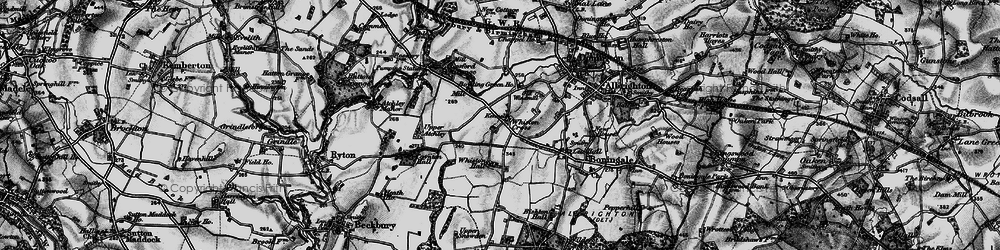 Old map of Whiston Hall in 1899