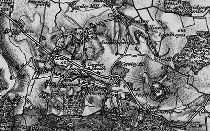 Old map of Whitbourne Moor in 1898