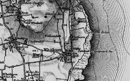 Old map of Whitburn in 1898