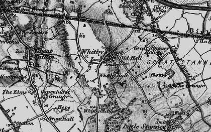 Old map of Whitby in 1896