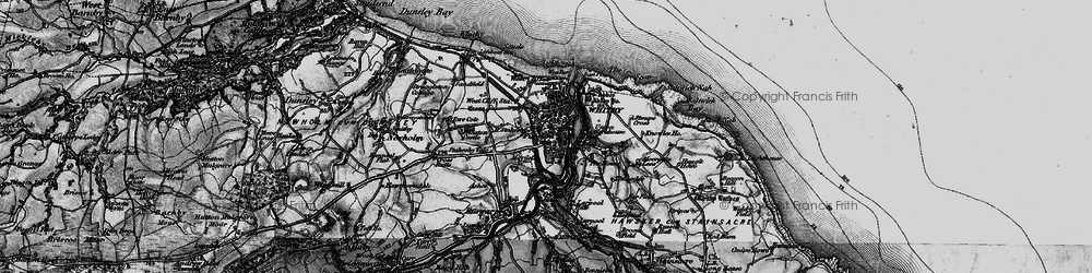Old map of Whitby in 1897