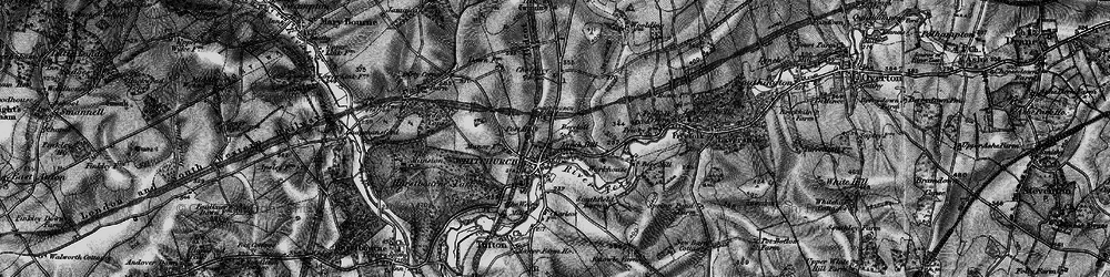 Old map of Whitchurch in 1895