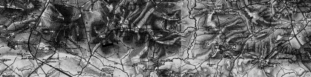 Old map of Whitchurch in 1896