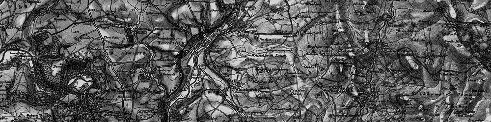 Old map of Whitchurch Down in 1896