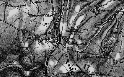 Old map of Whitchurch in 1898
