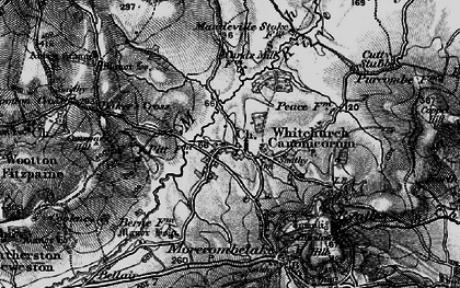 Old map of Whitchurch Canonicorum in 1898