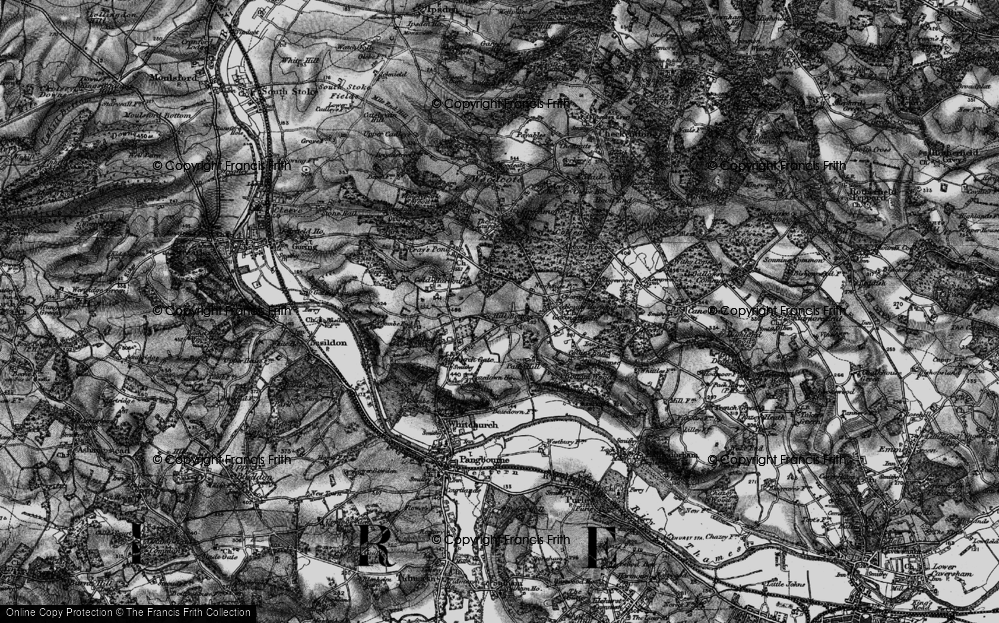 Old Map of Whitchurch Hill, 1895 in 1895
