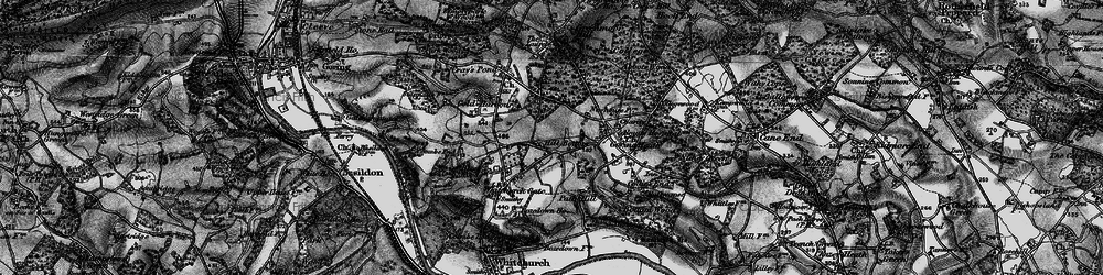 Old map of Whitchurch Hill in 1895