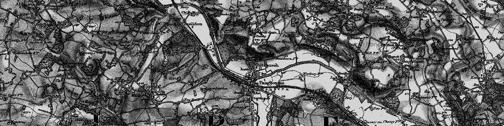Old map of Whitchurch-on-Thames in 1895
