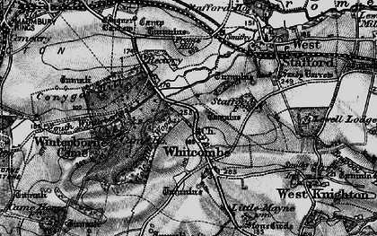 Old map of Whitcombe in 1897