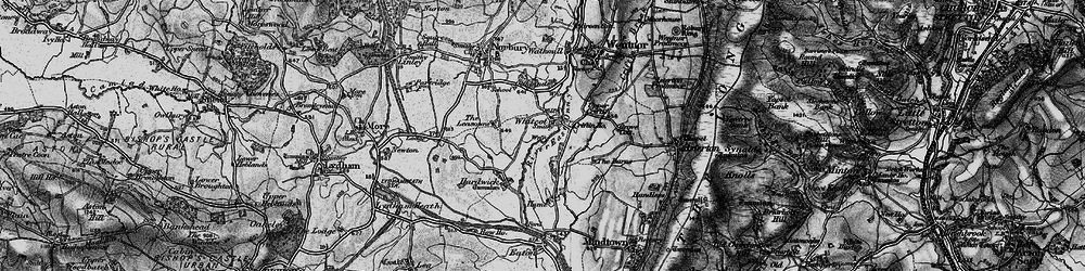 Old map of Whitcot in 1899