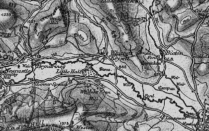 Old map of Whitcott Evan in 1899