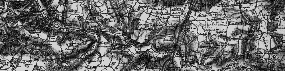 Old map of White Colne in 1895
