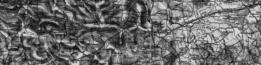 Old map of White Cross in 1895