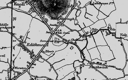 Old map of White Cross in 1898
