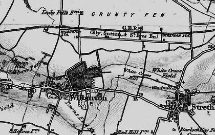 Old map of White Cross Hill in 1898