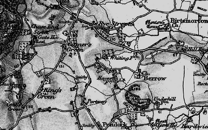 Old map of White End in 1898