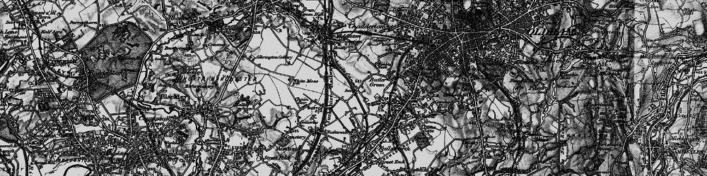 Old map of White Gate in 1896