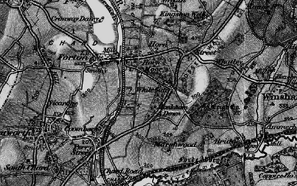Old map of White Gate in 1898