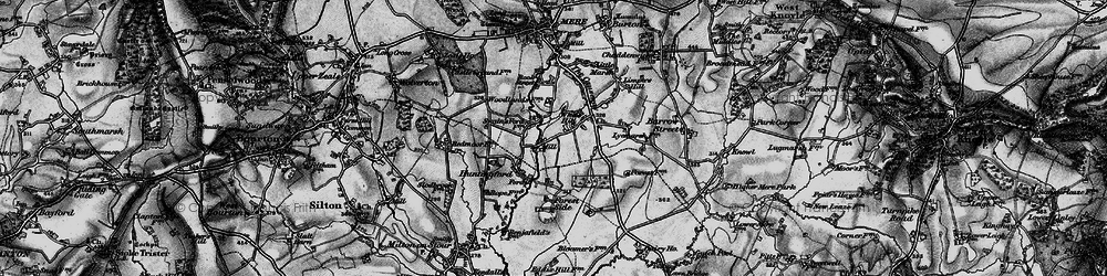 Old map of White Hill in 1898