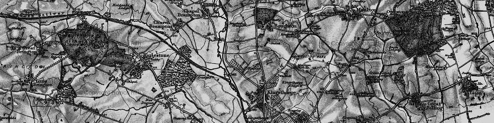 Old map of White Hills in 1898
