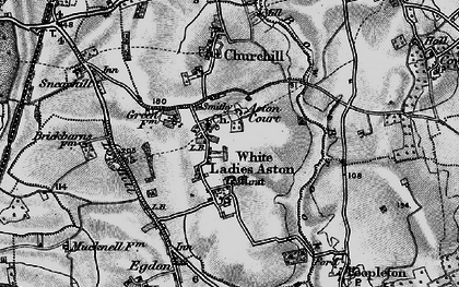 Old map of White Ladies Aston in 1898