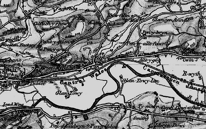 Old map of White Mill in 1898