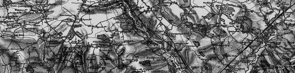 Old map of White Notley in 1896