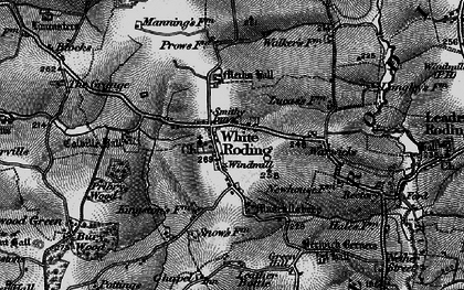 Old map of White Roding in 1896