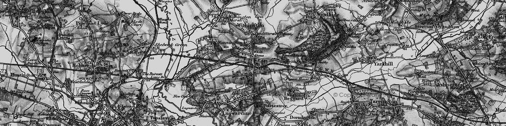 Old map of White Stone in 1898
