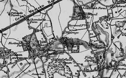 Old map of White Waltham in 1895