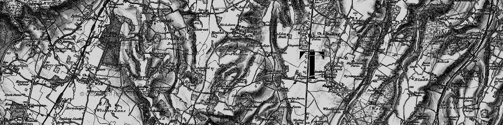 Old map of Whiteacre in 1895