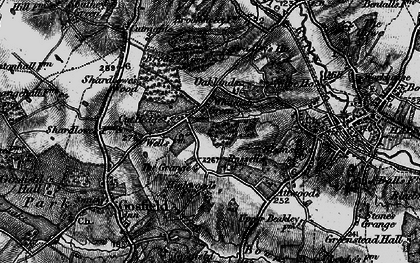 Old map of Whiteash Green in 1895