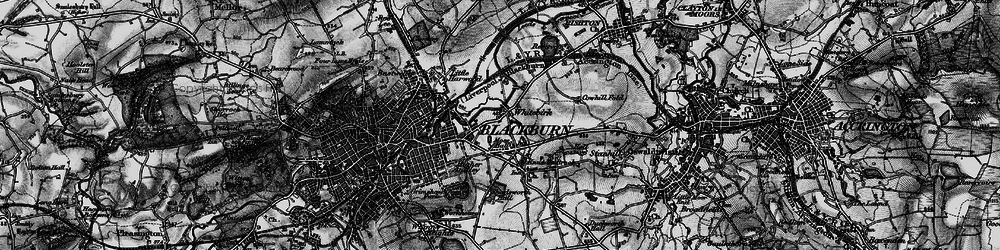 Old map of Whitebirk in 1896