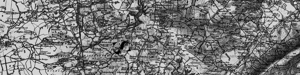 Old map of Wood Fold in 1896