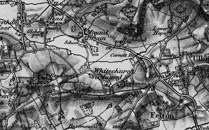 Old map of Whitechurch Maund in 1898
