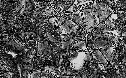 Old map of Whitecliff in 1896
