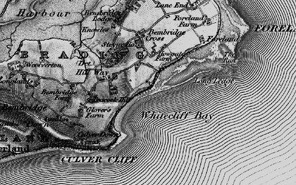 Old map of Whitecliff Bay in 1895