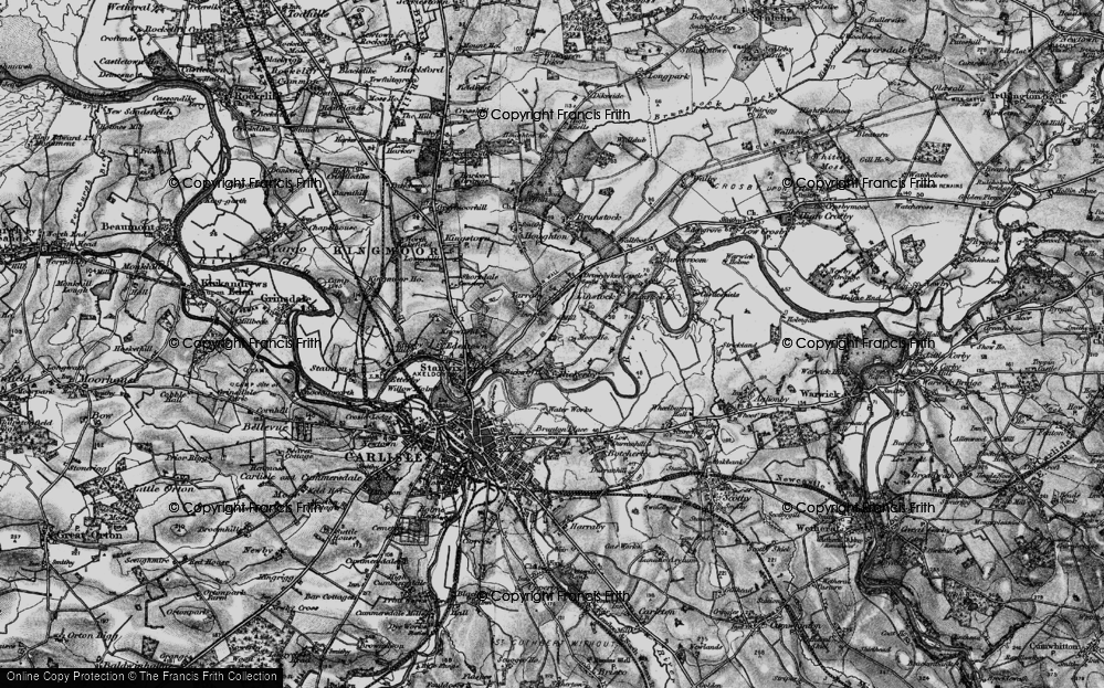 Old Map of Whiteclosegate, 1897 in 1897