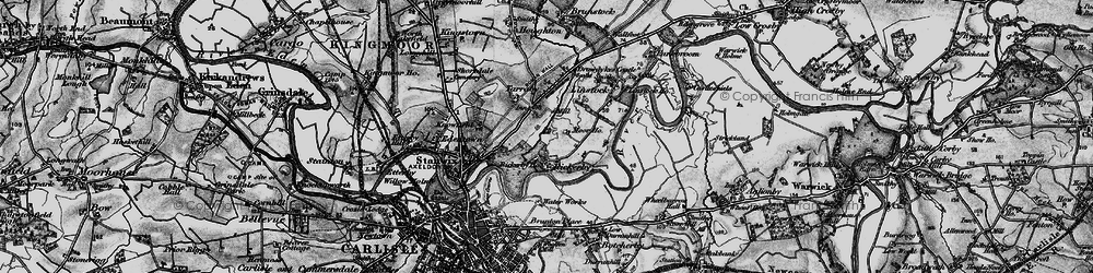 Old map of Whiteclosegate in 1897