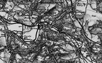 Old map of Whitecote in 1898