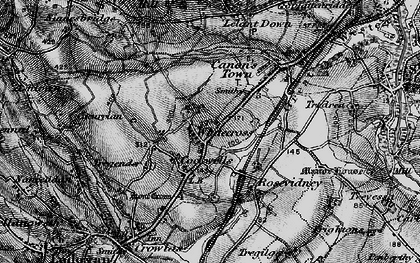 Old map of Whitecross in 1896