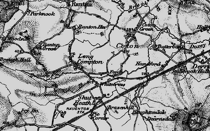 Old map of Whitecross in 1897